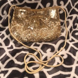 La Regale Beaded Bling Smaller Purse